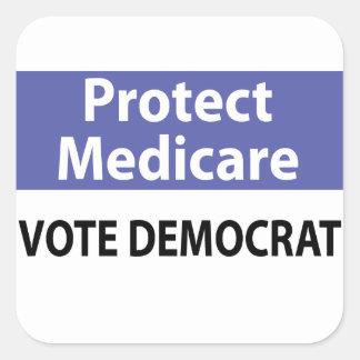 Proteja Seguro de enfermedad: Vote a Demócrata Colcomanias Cuadradass