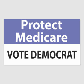 Proteja Seguro de enfermedad: Vote a Demócrata Rectangular Altavoz