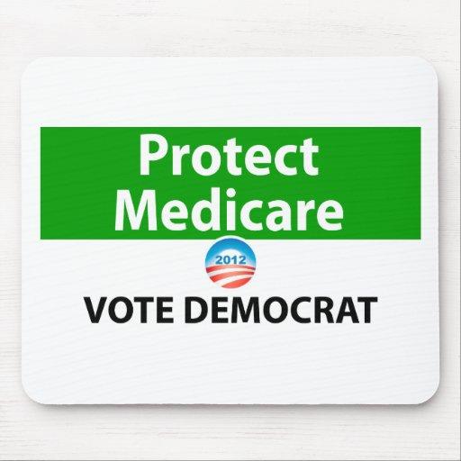 Proteja Seguro de enfermedad: Vote a Demócrata Alfombrillas De Raton