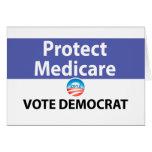 Proteja Seguro de enfermedad: Vote a Demócrata Tarjeta De Felicitación