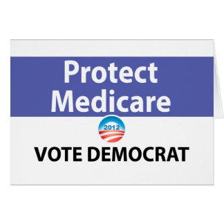 Proteja Seguro de enfermedad: Vote a Demócrata Tarjeton