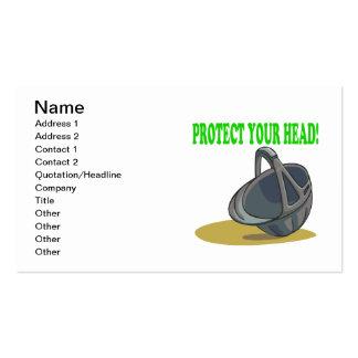 Proteja su cabeza plantilla de tarjeta personal