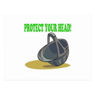 Proteja su cabeza tarjetas postales