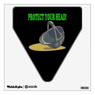 Proteja su cabeza vinilo