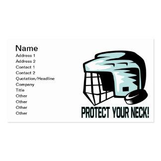 Proteja su cuello tarjetas de visita