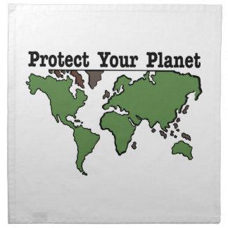 Proteja su planeta servilletas de papel