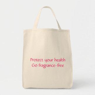 Proteja su salud: Vaya sin perfume Bolsa Tela Para La Compra