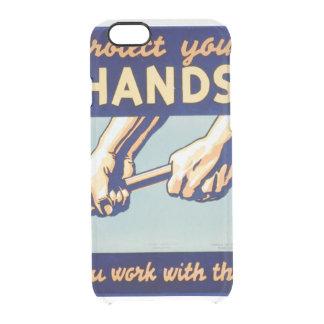 Proteja sus manos que usted trabaja con ellas el funda clearly™ deflector para iPhone 6 de uncommon