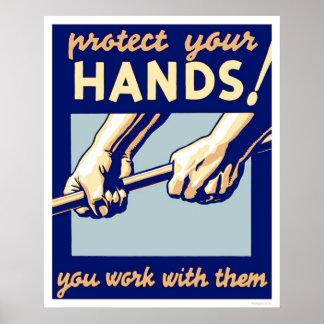 Proteja sus manos WPA 1936 Impresiones