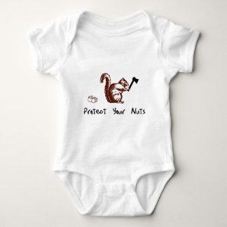 Proteja sus nueces body para bebé