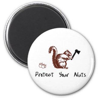 Proteja sus nueces imán redondo 5 cm