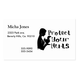 Proteja sus nueces tarjetas de visita
