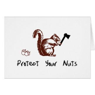 Proteja sus nueces tarjeta de felicitación