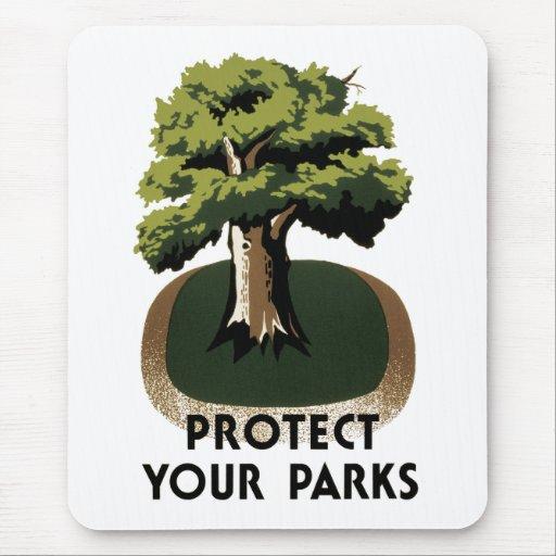 Proteja sus parques alfombrilla de ratones