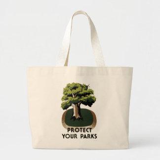 Proteja sus parques bolsa tela grande