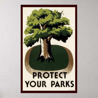 Proteja sus parques impresiones