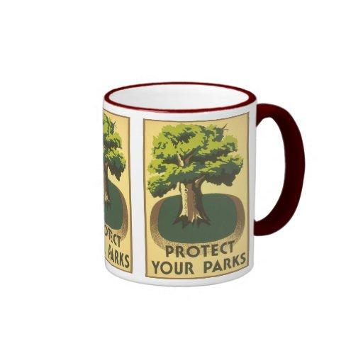 Proteja sus parques taza de dos colores