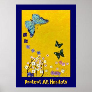 Proteja todos los hábitats póster