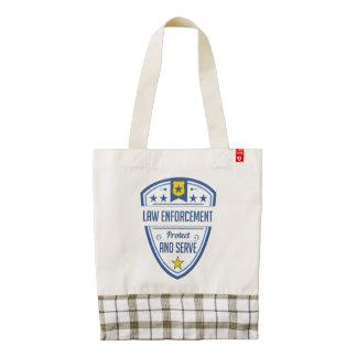 Proteja y sirva la insignia de la policía bolsa tote zazzle HEART