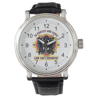 Proteja y sirva la policía relojes de mano