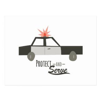 Proteja y sirva tarjetas postales