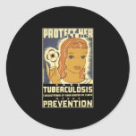 Protéjala contra tuberculosis etiqueta redonda