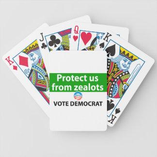 Protéjanos contra defensores: Vote a Demócrata Baraja De Cartas Bicycle
