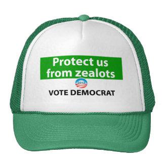 Protéjanos contra defensores: Vote a Demócrata Gorra