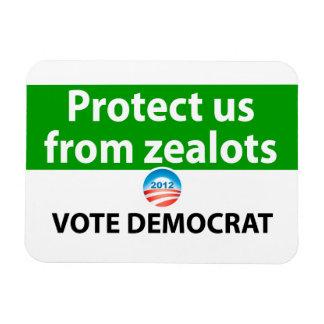 Protéjanos contra defensores: Vote a Demócrata Imán Foto Rectangular