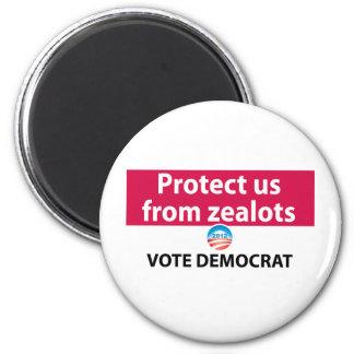 Protéjanos contra defensores: Vote a Demócrata Imán Redondo 5 Cm