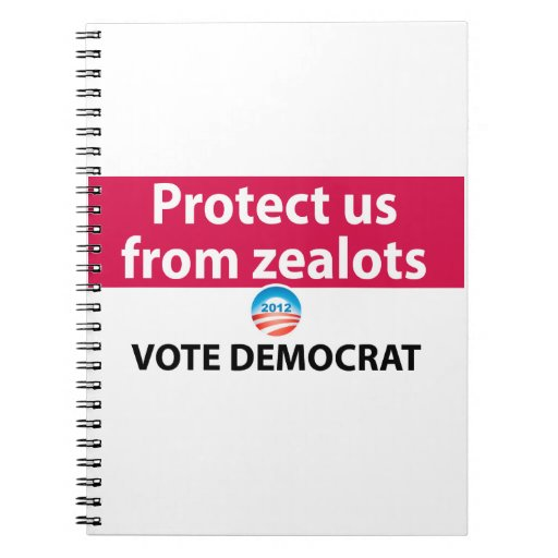 Protéjanos contra defensores: Vote a Demócrata Libros De Apuntes