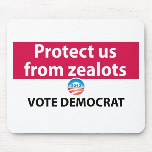 Protéjanos contra defensores: Vote a Demócrata Tapete De Ratón