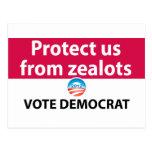 Protéjanos contra defensores: Vote a Demócrata Tarjetas Postales