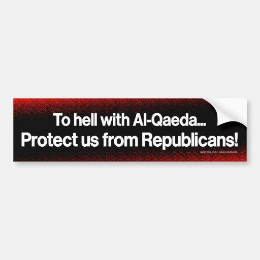 Protéjanos contra republicanos etiqueta de parachoque