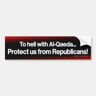 Protéjanos contra republicanos pegatina para auto
