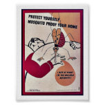 Protéjase prueba del mosquito su hogar impresiones