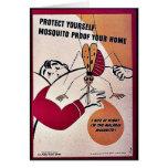 Protéjase prueba del mosquito su hogar tarjetas