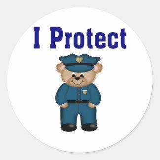 Protejo Pegatina Redonda