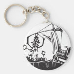 Protest Crane Key Chain