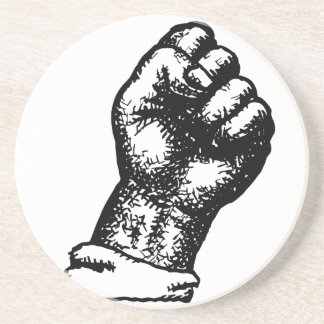 protest fist drink coaster