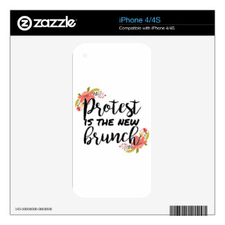Protest_Is The New Brunch iPhone 4 Skins