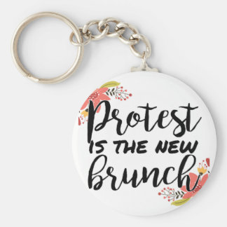 Protest_Is The New Brunch Keychain