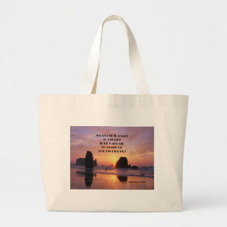 protest large tote bag