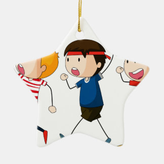 Protest Double-Sided Star Ceramic Christmas Ornament