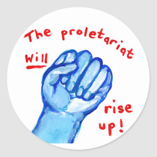 Protest raised fist empowerment ows occupy wall st classic round sticker