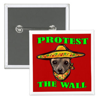 PROTEST THE WALL PINBACK BUTTON