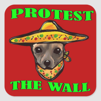 PROTEST THE WALL SQUARE STICKER