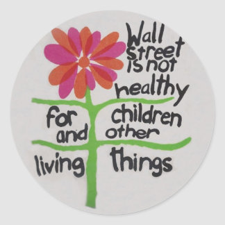 Protest Wall Street Classic Round Sticker