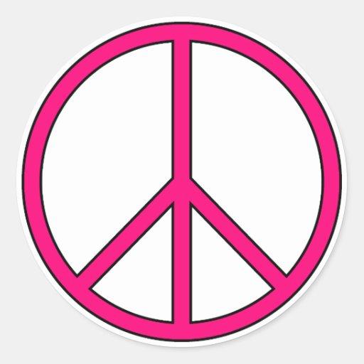 Protesta anti de la guerra del Hippie del amor de Pegatina Redonda