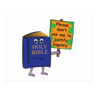 Protesta de la biblia postal